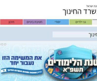 מאגר המרצים של משרד החינוך. צילום מסך של אתר המשרד